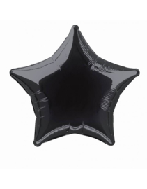 Foil Ballon Star 50 cm | Black
