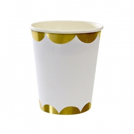 Paper cups gold