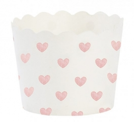 Baking cups roze hartjes