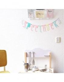 Letter banner pastel