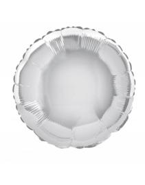 Folieballon rond  45 cm | Zilver