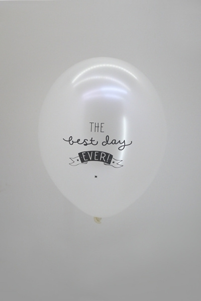 Best Day Ever Metallic ballon