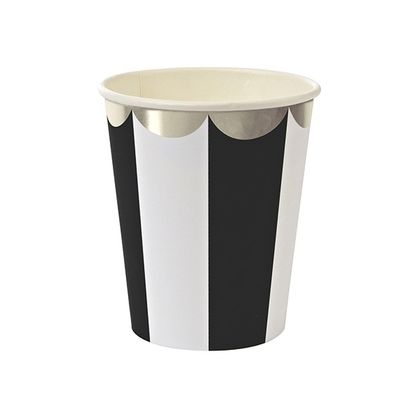 Paper cups black striped