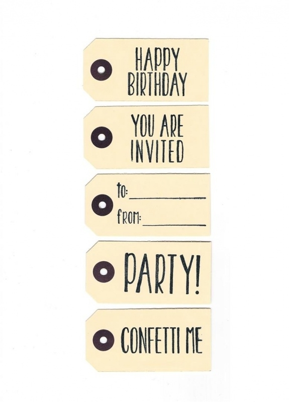 Party label basic