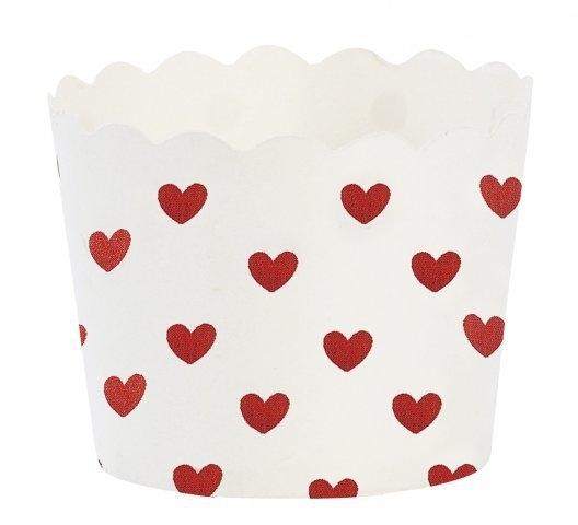 Baking cups rode hartjes