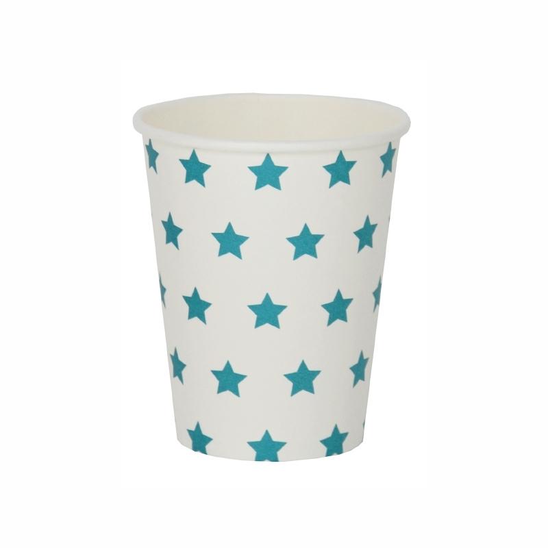 Papieren bekers blauwe sterren