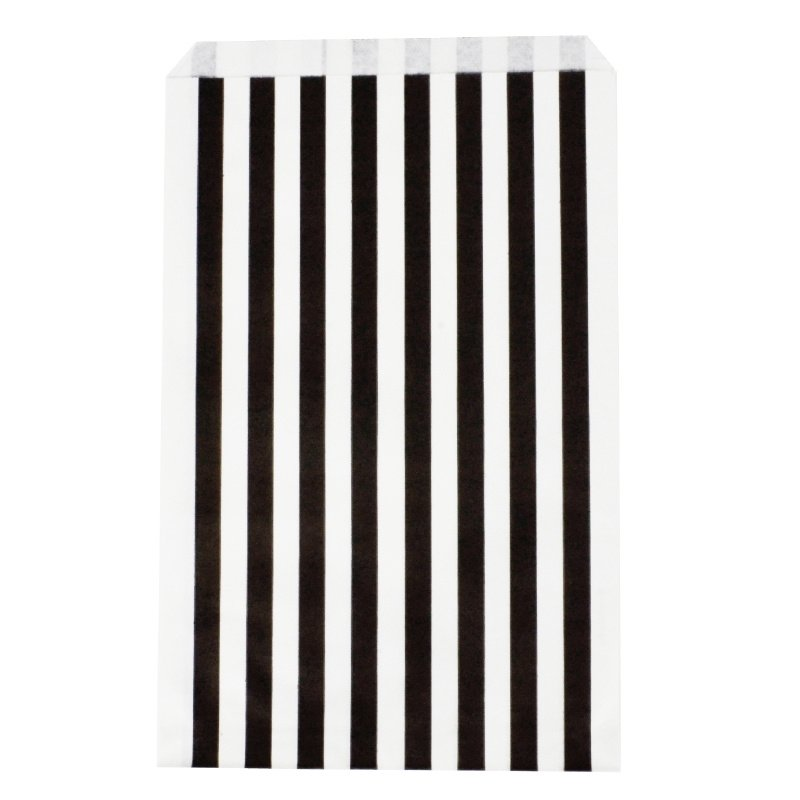 Party gift bags black striped