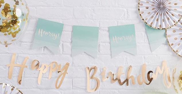 Gouden Happy Birthday Slinger
