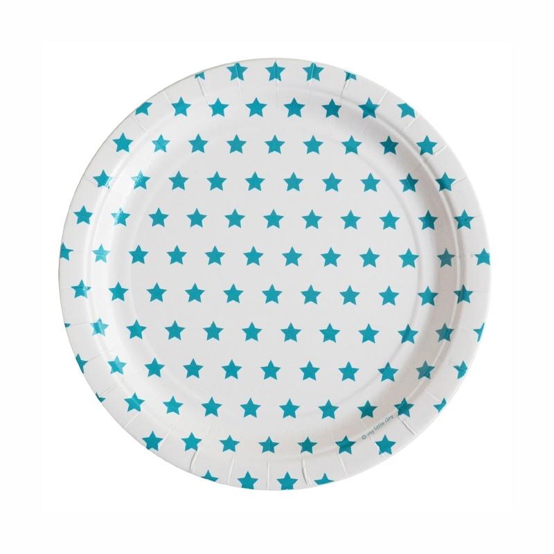 Paper plates blue stars