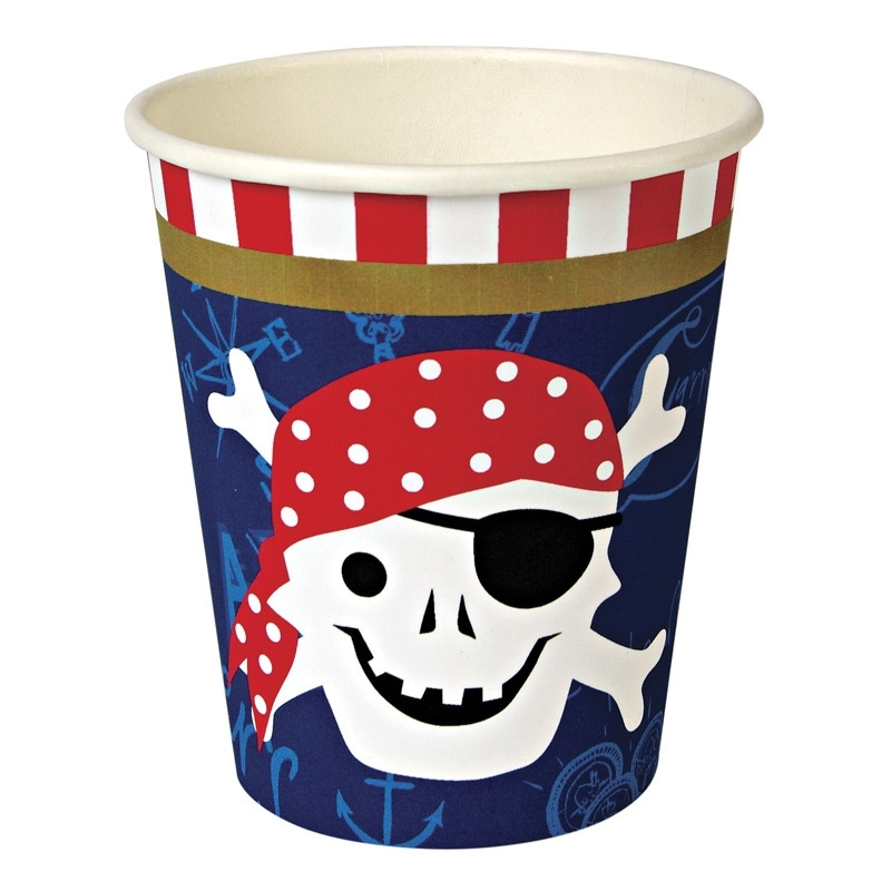 Ahoy piraten bekers klein