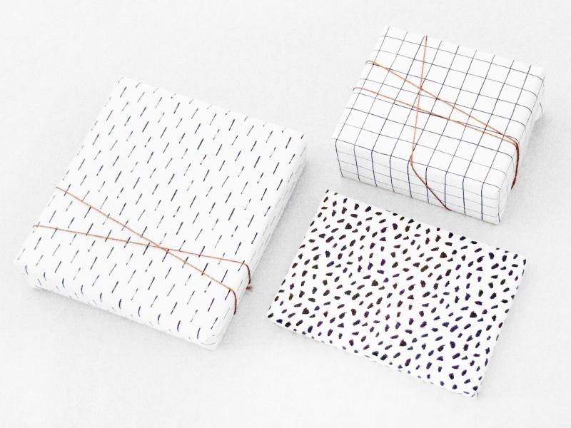 Inpakpapier set van 3 | Brush
