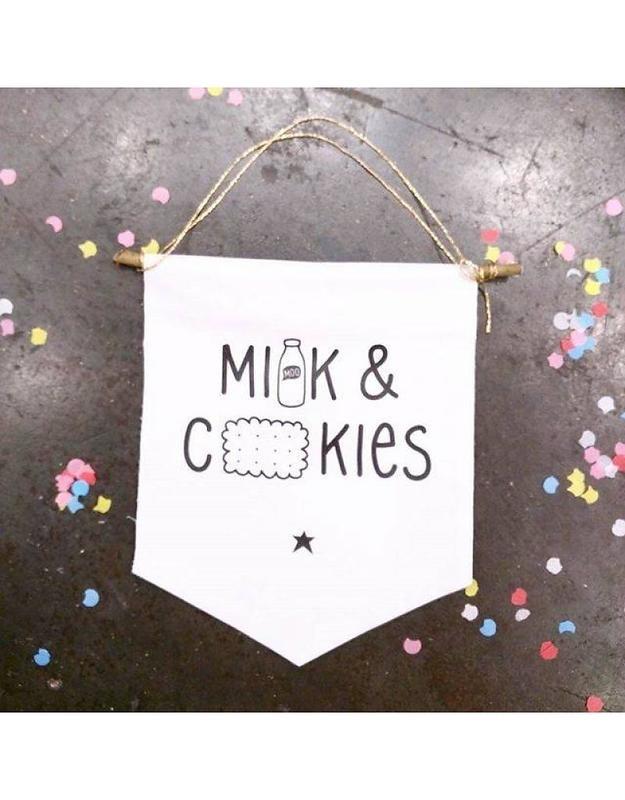 Milk & Cookies | Mini Wall Flag