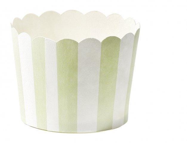 Baking cups mint groen gestreept