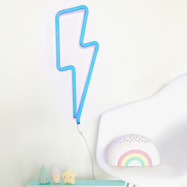 Neon Lights | Lightning Bolt | Blue