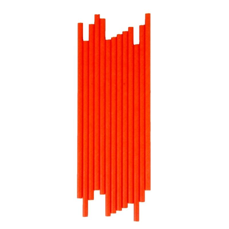 Papieren rietjes oranje