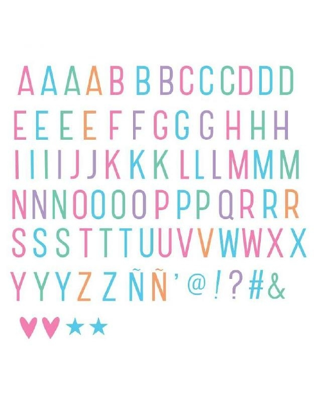 Lightbox letter set | Pastel