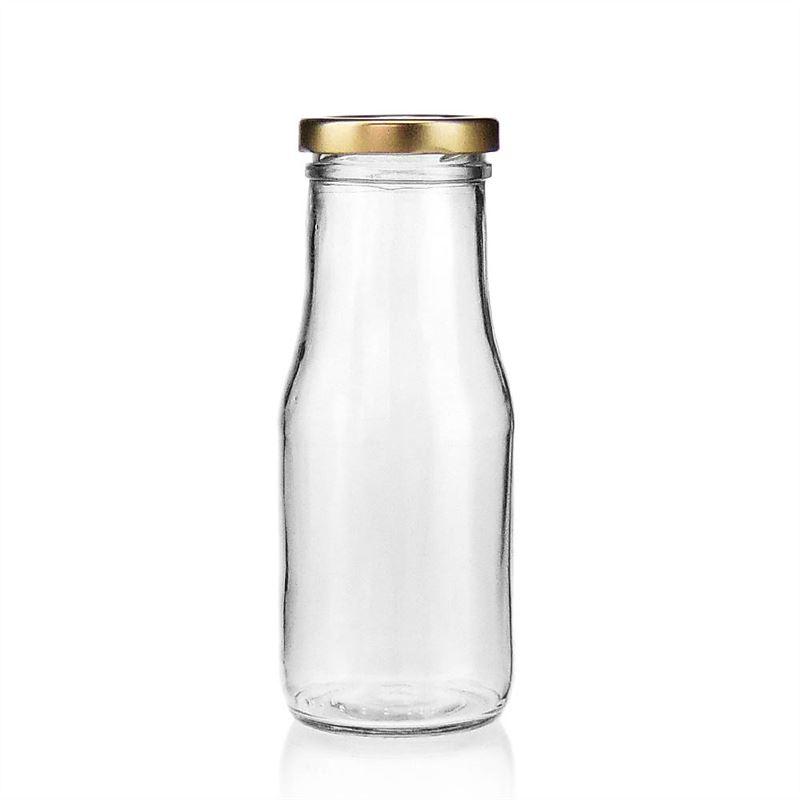 Glazen melk fles