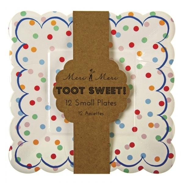 Toot Sweet spotty bordjes (klein)