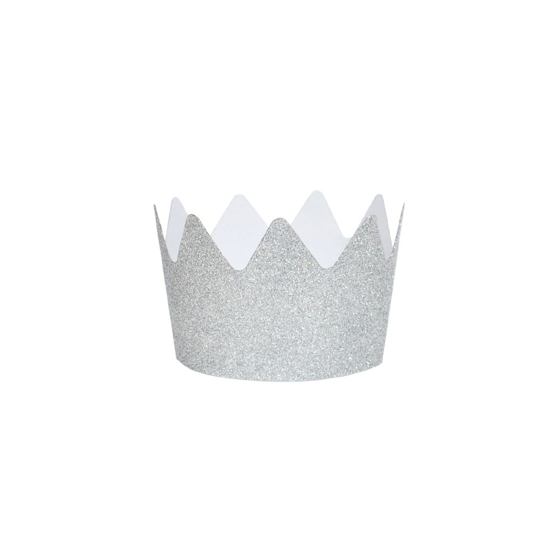 Glitterkroon zilver
