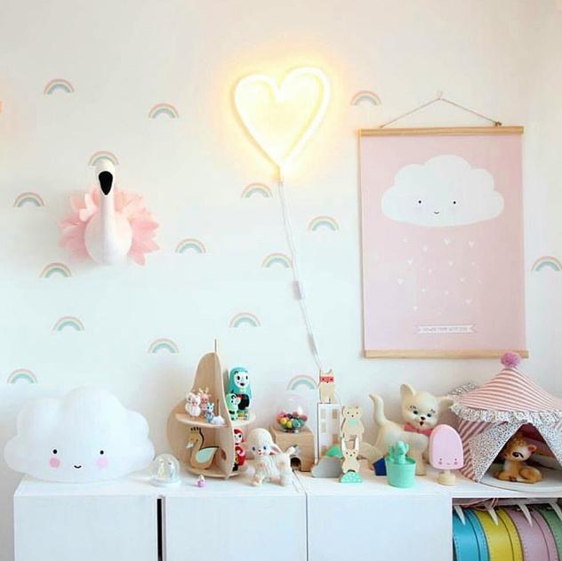 Neon Stijl Lamp | Hart | Geel