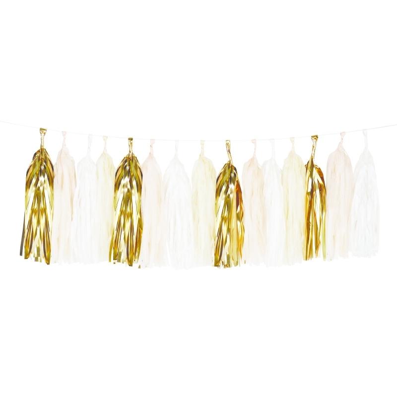Tassel nude en goud