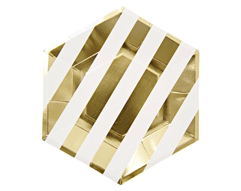 Hexagon gouden bordjes