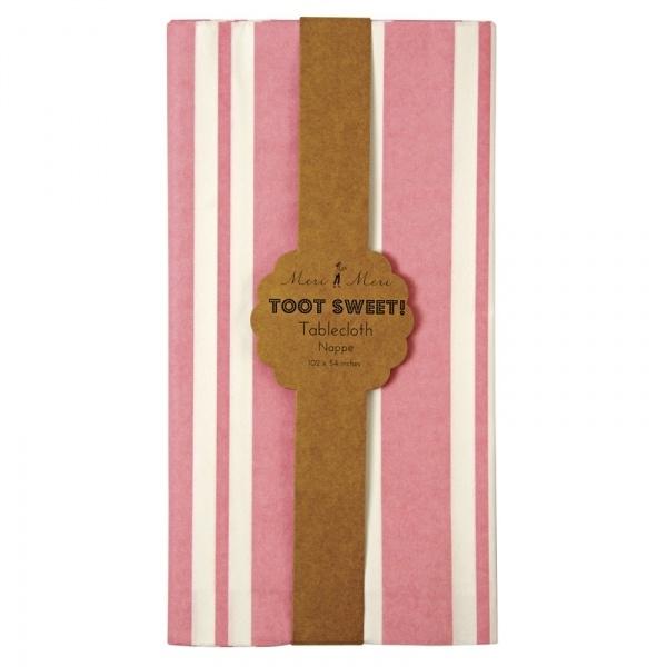 Toot Sweet roze witte tafelkleed
