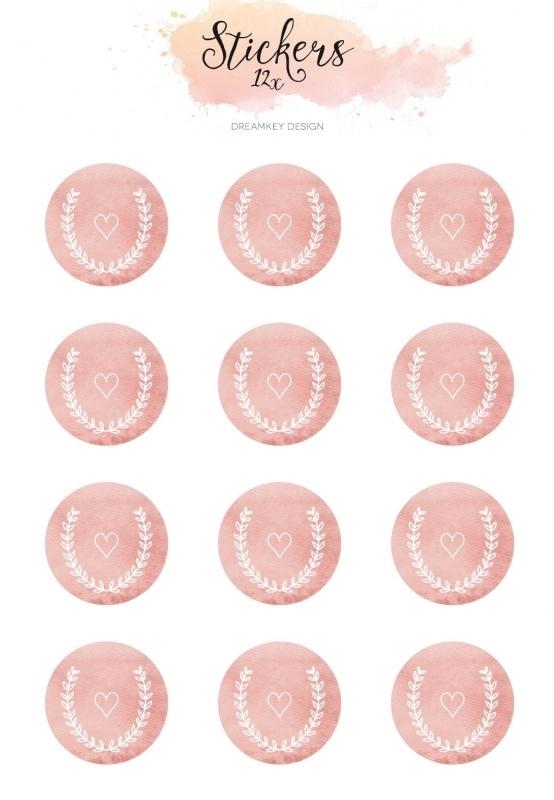 Mini sluitzegel | Watercolor roze