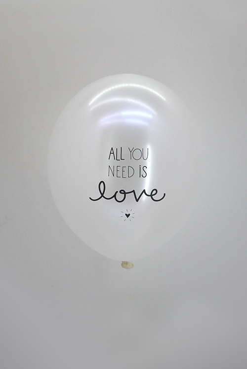 All you need is Love - wit metallic balloon
