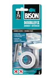 DOUBLEFIX BINNEN ROL 1,5 M X 19 MM (BLISTER) WIT