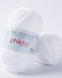 Phil Coton 3 Blanc