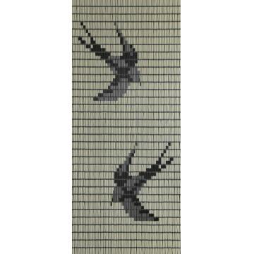 Sun-Arts vliegengordijn model 101 hulzengordijn zwaluw/creme 100 x 232 cm