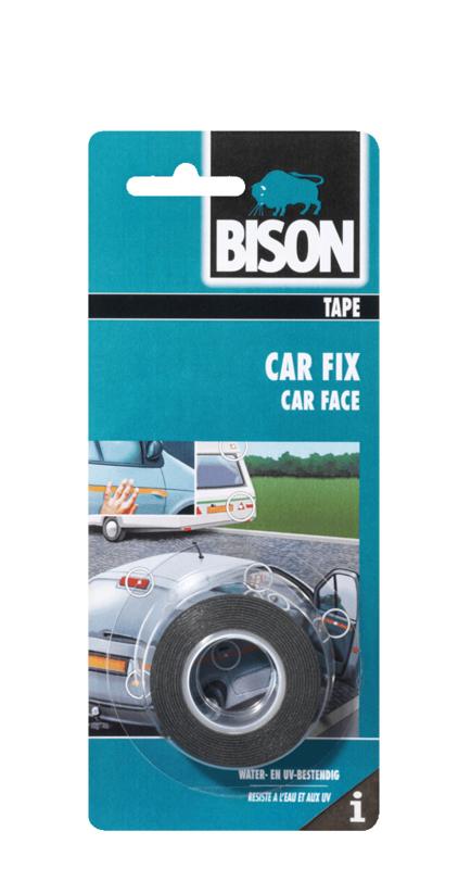 CAR FIX ROL 1,5 M X 19 MM (BLISTER) ZWART