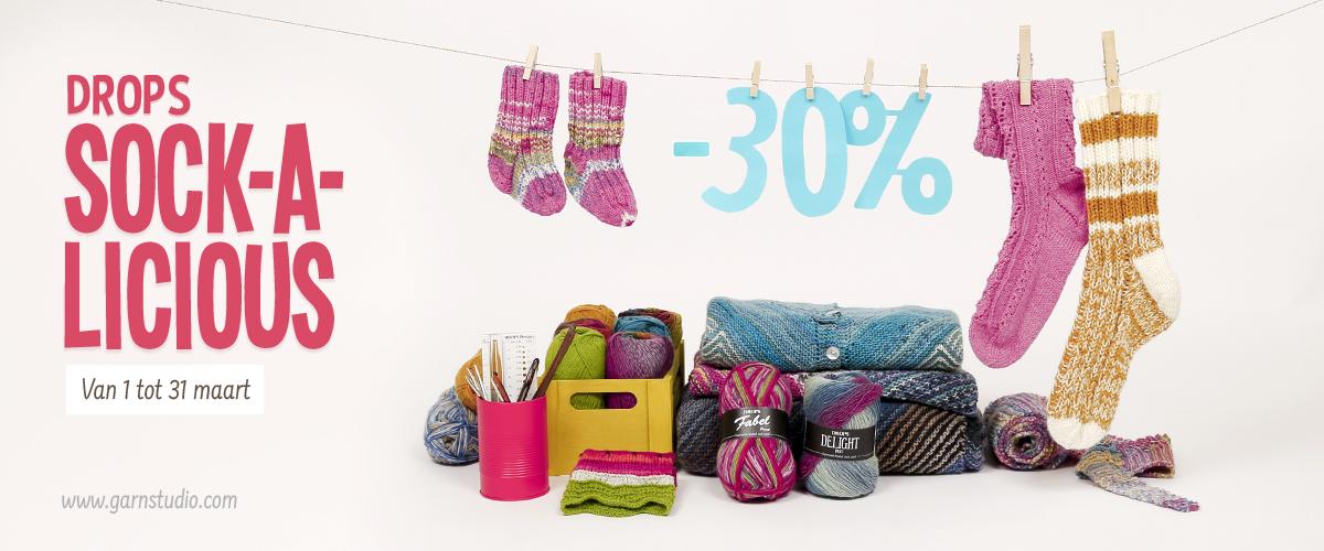 Drops Sock-A-Licious Sokkenwolgarens -30%
