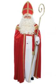 Sint kostuum compleet polyester fluweel