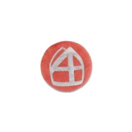 Button met mijter oranje