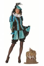 Pieten kostuum dames velours de panne