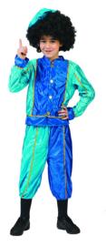 Goedkoop Pietenpak jongen Turquoise/blauw