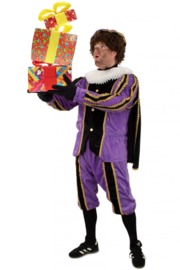 Piet plush zwart en paars