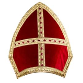Mijter Sinterklaas fluweel luxe