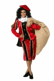 Pietenpak dames zwart en rood