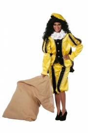 Pietenpak dames zwart en geel