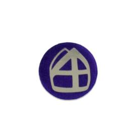 Button met mijter paars