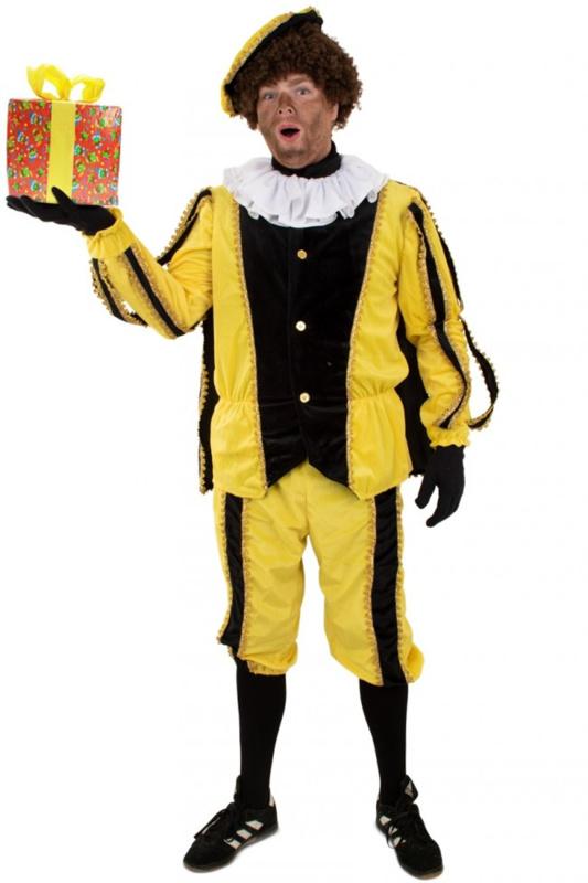 Piet plush zwart en geel