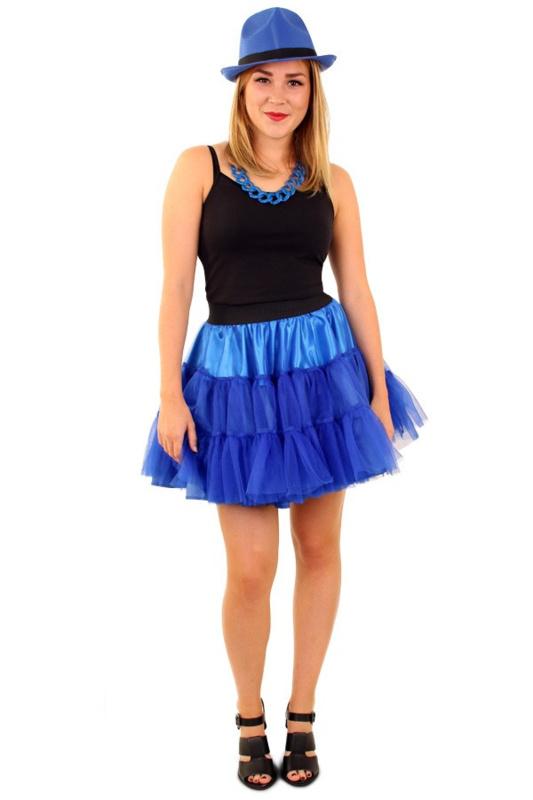 Petticoat piet 3 laags blauw