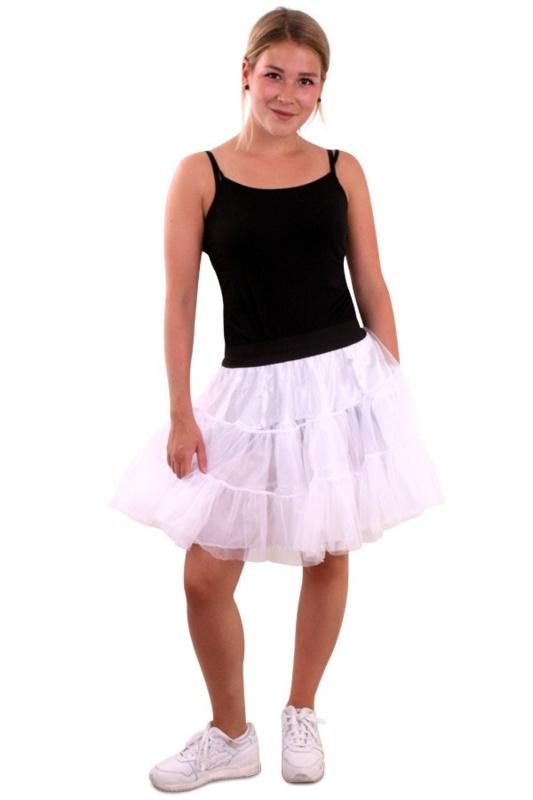 Petticoat piet 3 laags wit
