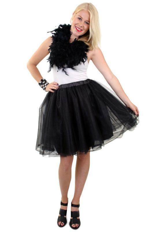Tule rok piet zwart deluxe