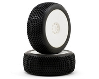 AKA Racing Enduro 1/8 Buggy Tires (2) (Pre-Mounted) (White) (Soft)