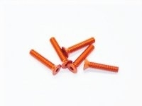 AM-14CS3016-O Alu Screw allen countersunk M3x16 Orange (7075) (5)