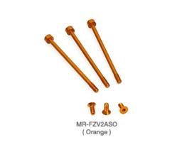 Muchmore FLETA ZX V2 Case & Timing Cap Aluminum Screws Orange 6pcs MM-MR-FZV2ASO